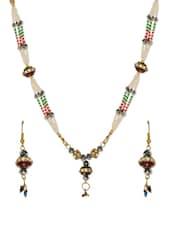 Multi Coloured Faux Pearl Seed Bead Necklace (Set) - Savi