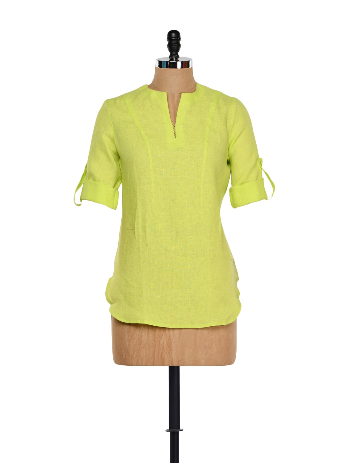 Lime Green Linen Top - Yell
