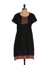Black And Red Embroidered Kurti - Go Lucknow