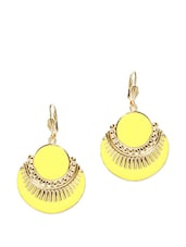 Pretty yellow and gold earrings