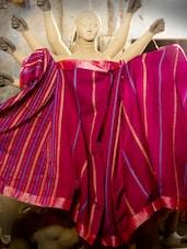 Fuchsia Pink Resham Saree - Cotton Koleksi