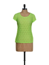 Trendy Round Neck Cotton Lace Top - RADICAL