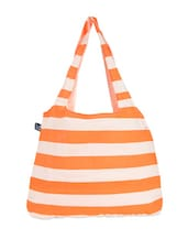 Orange And White Striped Tote Bag - Be... For Bag