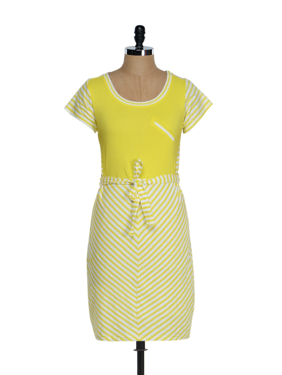 Striped Yellow Flavour Dress - QUEST