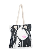 Fashionable Girl Print Tote - Greenobag