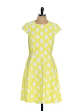 Yellow Polka Dot Dress - Mishka