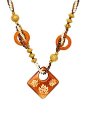 Novel Wooden Beads Chain Necklace - Fayon