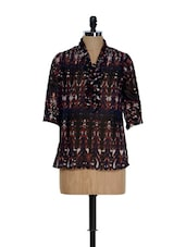 Tribal Inspired Bow-tie Top - Meira