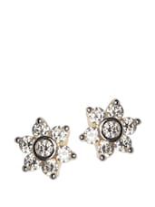 Flower Crystal Studded Earring - ESmartdeals