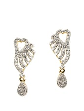 Sparkling Gold And Silver Plated Drop Earrings - ESmartdeals