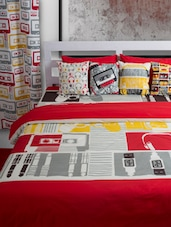 Bedroom Soft Furnishing Collection With Gadget Print - HOUSE THIS