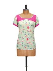 Floral Printed Cotton Top - Yepme