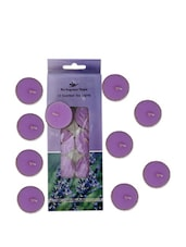 Set Of 10 Lavender Scented Tea Lights - Fragrance World India