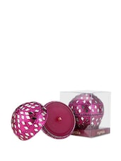 Rounded Beaded Lalitha Pink Scented Candle - Fragrance World India