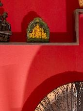 Maa Durga Terracotta Home Décor-Green & Yellow - Bdesi