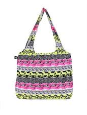 Multicoloured Animal Print Tote Bag - Be... For Bag