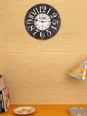 Wood Brown Vintage Wall Clock - Cosmos Galaxy