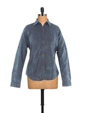 Indigo Blue Chic Shirt - Fast N Fashion