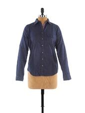 Blue Dotted Shirt - Fast N Fashion