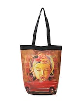 Soothing Buddha With Quirky Car Print Tote Bag - The House Of Tara