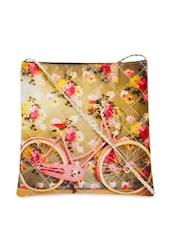 Bicycle Print Cross Body Bag - The House Of Tara - 863544