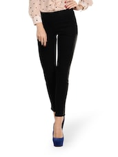 High Waist Black Jeggings - Ursense