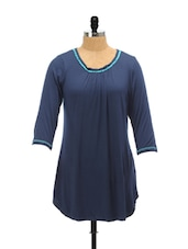 Dark Blue And Turquoise Top - AND