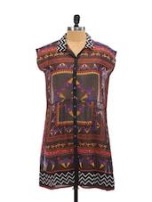 Tribal Print Polyester Dress - Global Desi