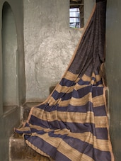 Blue Gheecha Saree - Cotton Koleksi