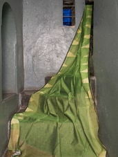 Green Silk Saree - Cotton Koleksi