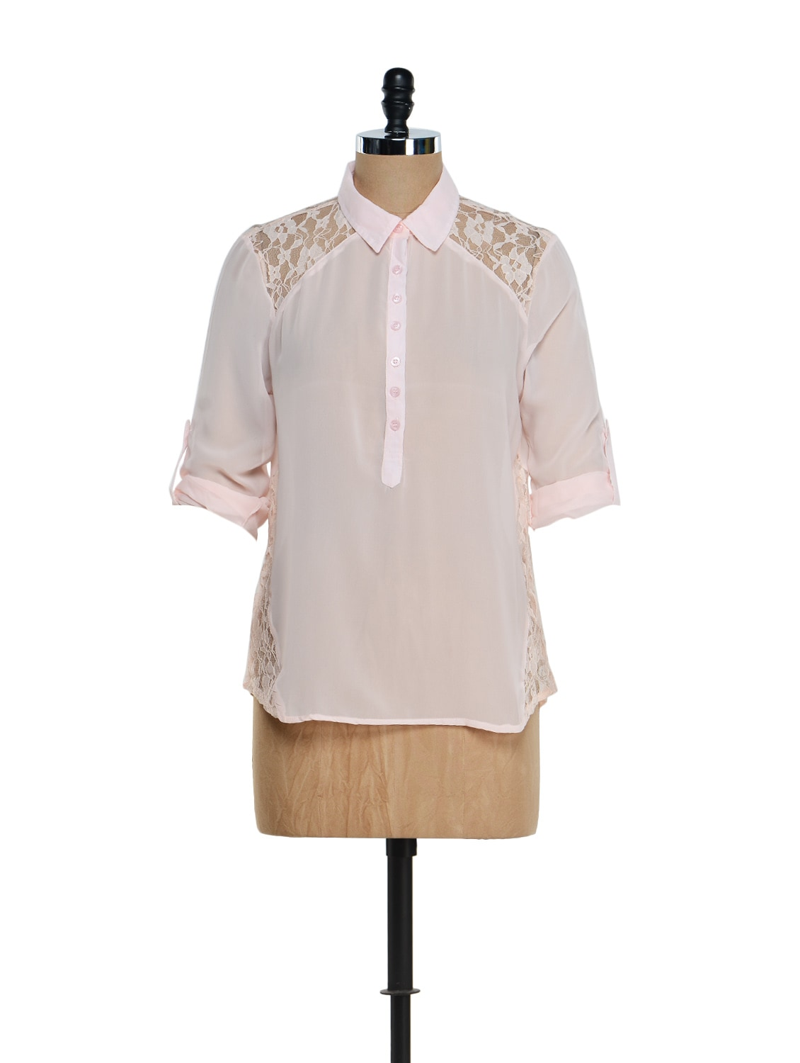 Peach Lace Shirt - Purys