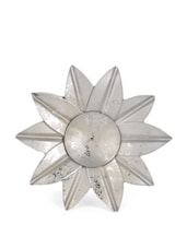 Silver Flower Shaped Tea Light Candle Holder - Ambbi Collections