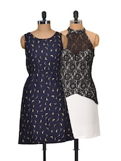 Navy And Black Set Of 2 Dresses - @ 499