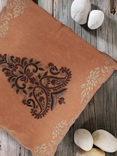 Ethnic Embroidered Peach Cushion Cover - Tarusa: 'art Is Everywhere'
