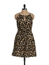 Brown Leopard Print Dress - Tops And Tunics