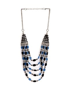 Black And Blue Beads Necklace - Art Mannia