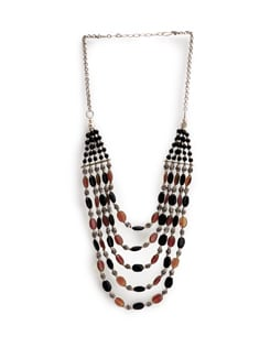 Black And Red Beads Necklace - Art Mannia