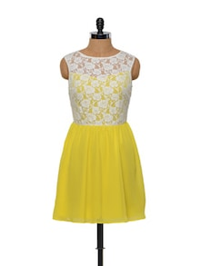 Besiva Lace Yellow Dress - Besiva