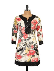 Multicoloured Floral Tunic - Ayaany