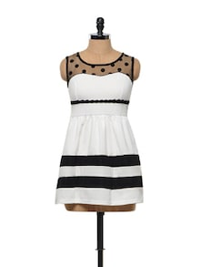 White And Black Skater Dress - Sanchey