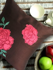 Brown Floral Cushion Cover - Per Inch