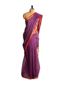 Exquisite Kosa Silk Purple Saree - Kosabadi