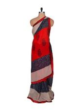 Pretty Printed Chiffon Saree - Fabdeal