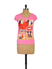 Pink Trendy Girls Casual Tee - Trendy Girlz