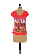 Red Trendy Girls Casual Tee - Trendy Girlz