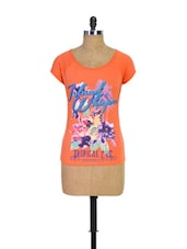Orange Trendy Girls Casual Tee - Trendy Girlz