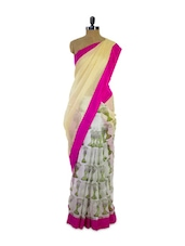 Amazing Pastel Hue Half And Half Super Net Saree - Pothys