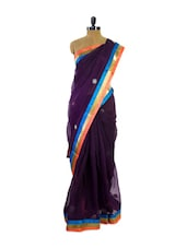 Elegant Purple Super Net Saree - Pothys