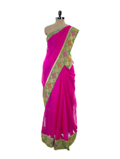 Pretty In Pink Super Net Saree - Pothys