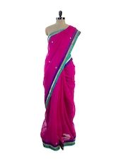 Fabulous Pink Super Net Saree - Pothys